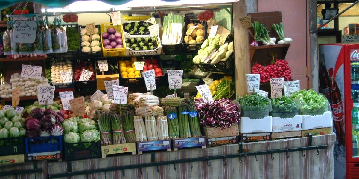 A food stall with healthy foods