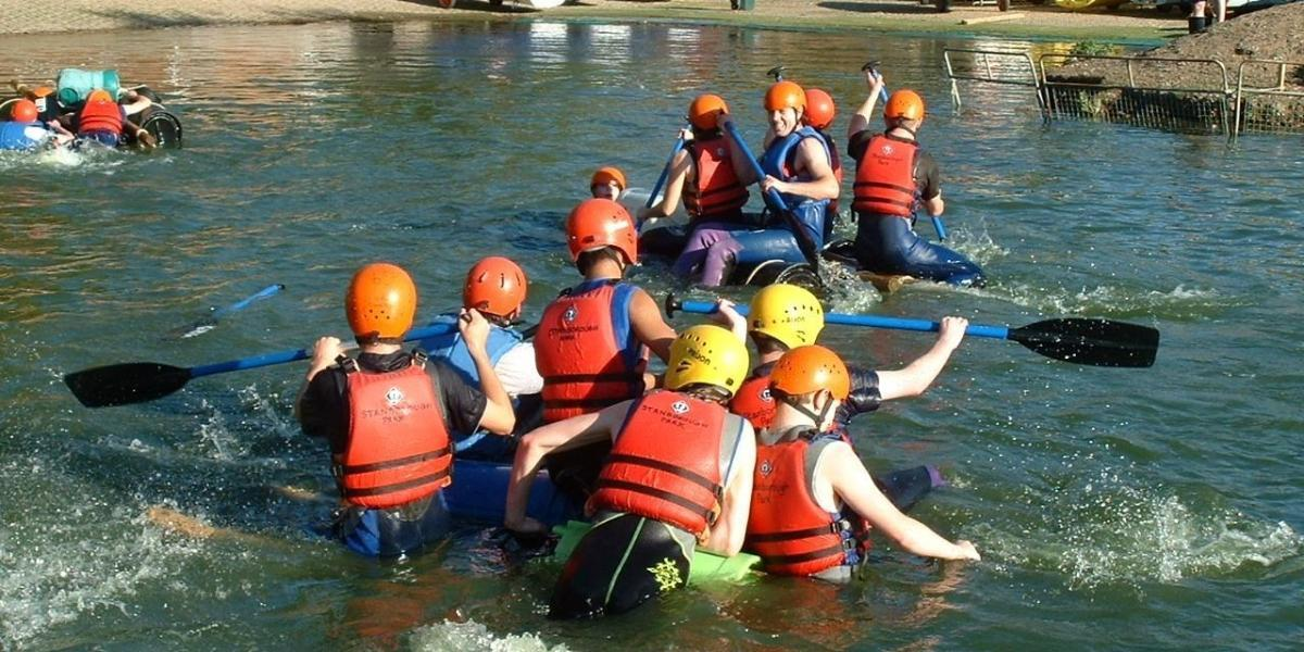 Rafting at Stanborough