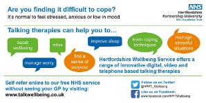 HPFT Talking therapy poster