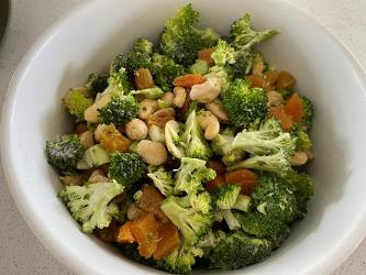 An image relating to Broccoli Cashew and Apricot Salad