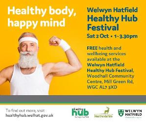 An image relating to Welwyn Hatfield Healthy Hub Festival 2nd October
